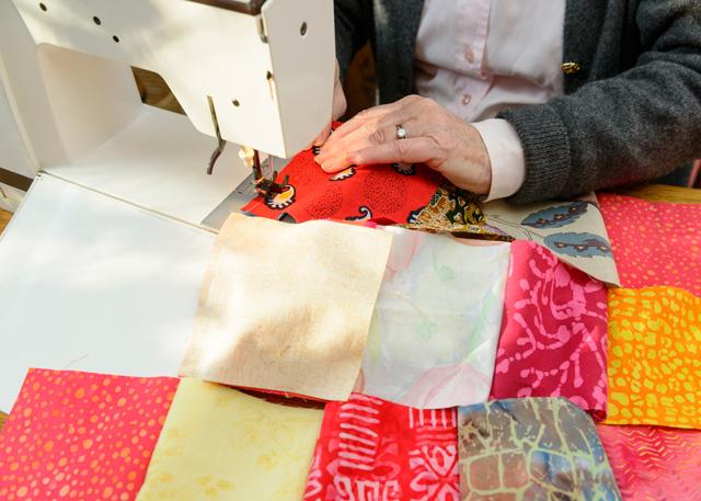 Tillverkning av patchworkmatta